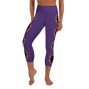 Wandering Whore H3 - Purple Yoga Capri Leggings with Small Waist Band Pocket