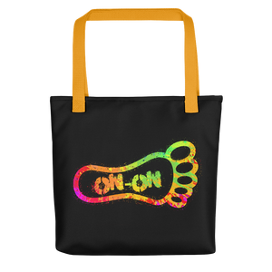 Neon Splatter On-On Hash Foot Tote / Hare Bag