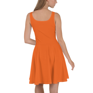 Orange Dress On-On Hash Foot Logo (Can be personalized. Contact prior to ordering)