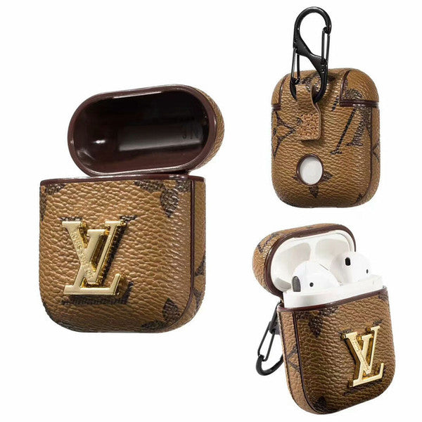 LV SIGNATURE LEATHER AIRPODS CASE-Millennial Watches