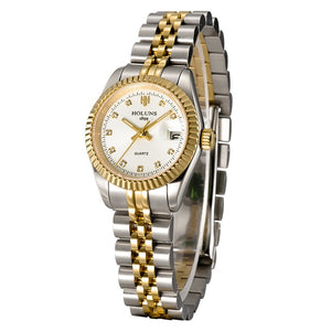 Gold Female Quartz Diamond Watch