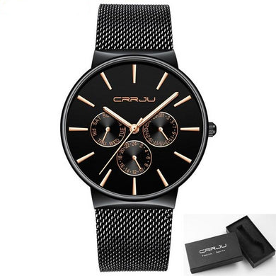 Ultra Thin Date Wrist Watch-Millennial Watches