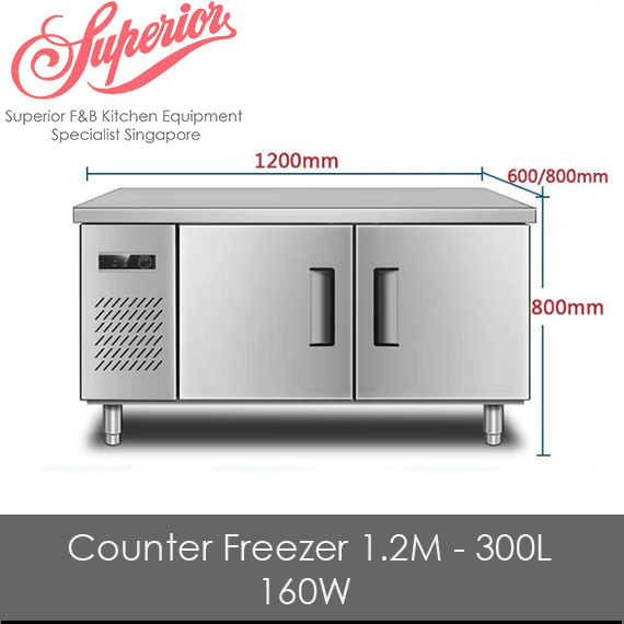 Counter Chiller/Freezer 1.2M - 300L