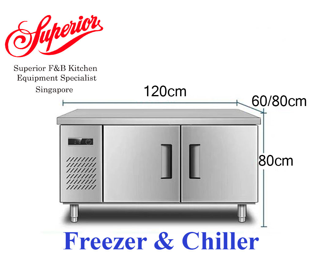 1.2m Counter Combination (Chiller and Freezer)
