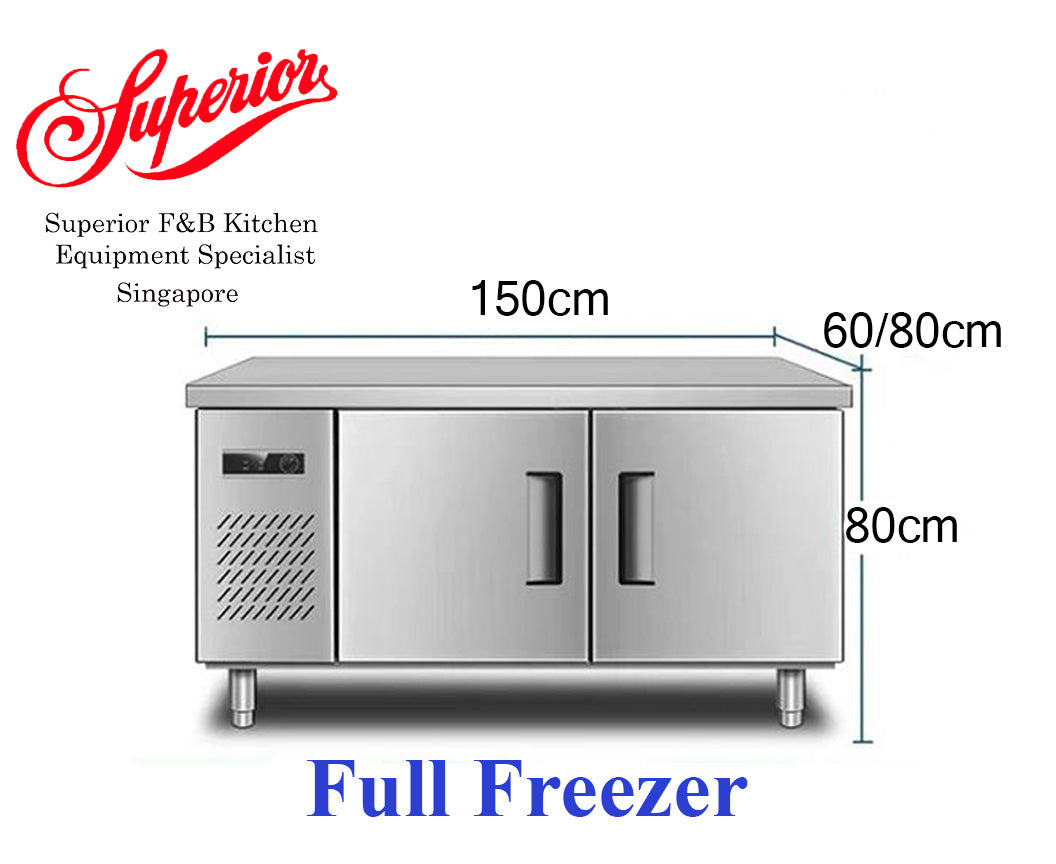 1.5m Counter Full Freezer