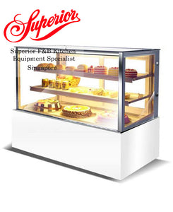 White Square Cake Display Chiller Standing 90cm / 120cm / 150cm / 180cm