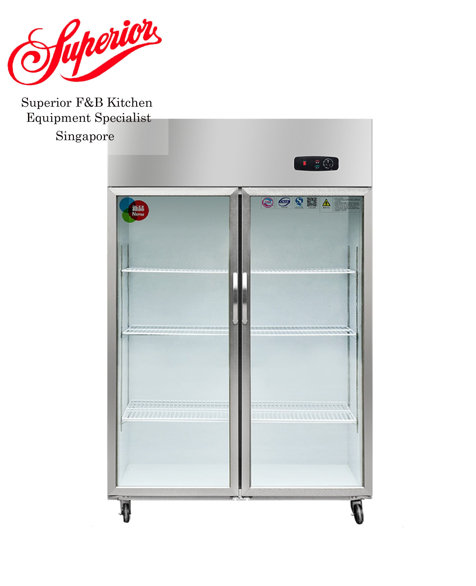 Double Glass Stainless Steel Chiller Display