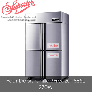 Four Doors Combination Chiller/Freezer 885L