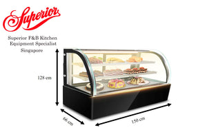 Standing Cake Display Chiller 150cm