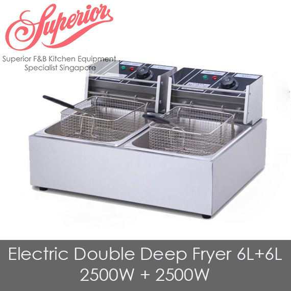 Electric Double Deep Fryer 6L+6L