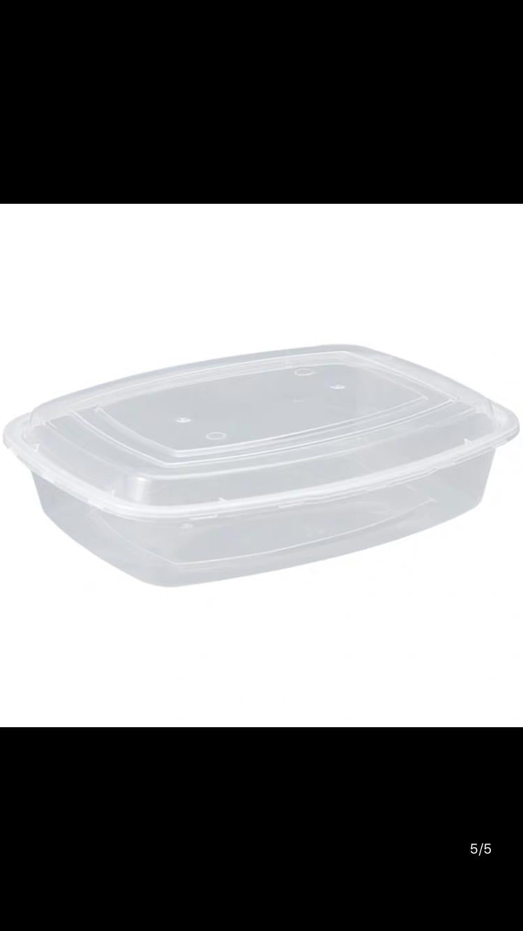 Transparant 2000ml Disposable container