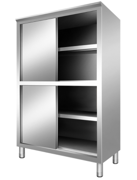 Stainless Steel 2 Door Sliding Cabinet