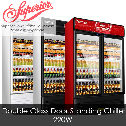 Double Glass Door Standing Chiller 688L
