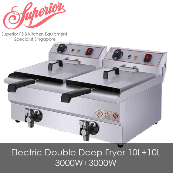 Electric Double Deep Fryer 10L+10L