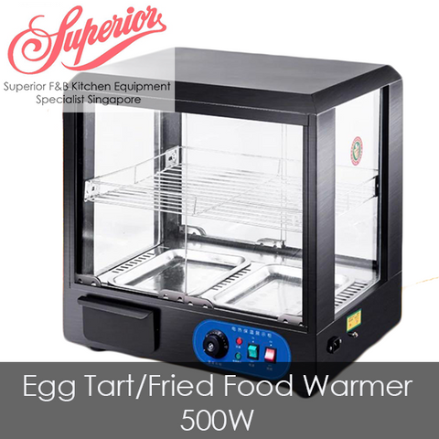 Egg Tart / Fried Food Warmer Display 51cm