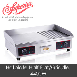 73cm Electric Hotplate Half Griddle/Half Flat
