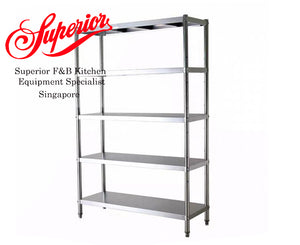 5 Tier Stainless Steel Racking