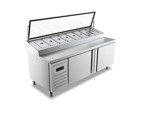 Counter Chiller Salad Bar with Glass Opening