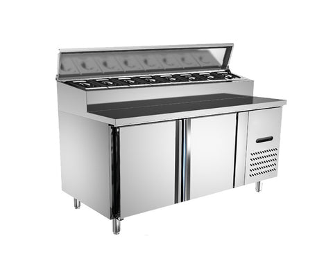 Counter Chiller Salad Bar with Stainless Steel Opening