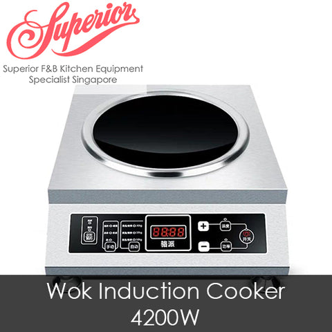 Wok Style Induction Cooker 4200W