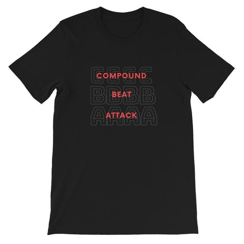 Compound Beat Attack Short-Sleeve Unisex T-Shirt - Fencing Shoes