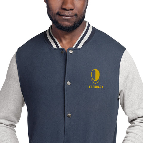 Embroidered Fencing Champion Bomber Jacket