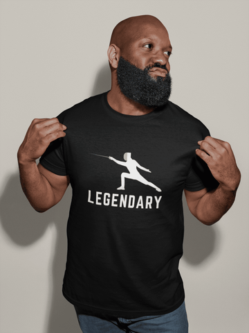 Legendary Fencing Mask  Style Short-Sleeve Unisex T-Shirt