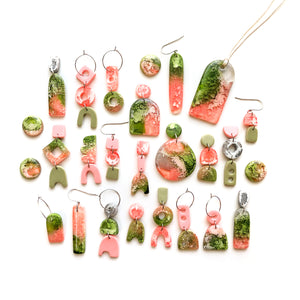 Peach Matcha Efflorescence GLOSS Narrow Arch Pendant