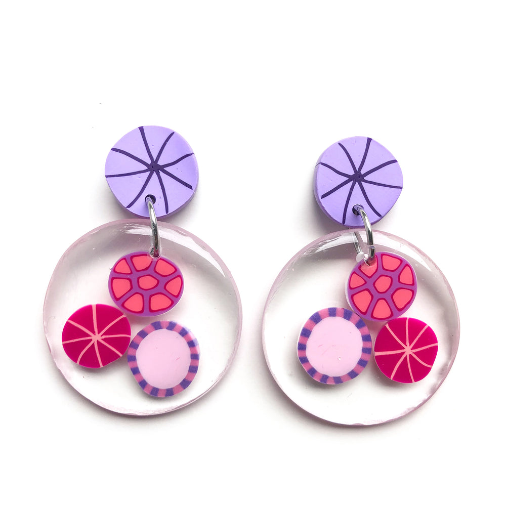 Preserved Rock Candy GLOSS Circle Earrings