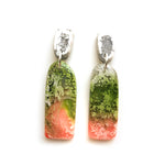 Peach Matcha Efflorescence GLOSS Long Arch Drop Earrings