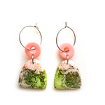 Peach Matcha Efflorescence GLOSS Half Oval Hoop Earrings