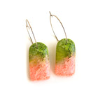 Peach Matcha Efflorescence GLOSS Arch Hoop Earrings