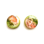Peach Matcha Efflorescence GLOSS Mega Circle Stud Earrings