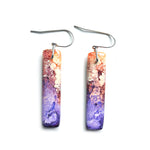 Peacock Efflorescence GLOSS Rectangle Hook Earrings