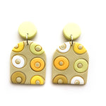 Yellow Circles Mega Arch Drop Earrings