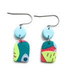Tropical Texture Multi Drop Hook Earrings