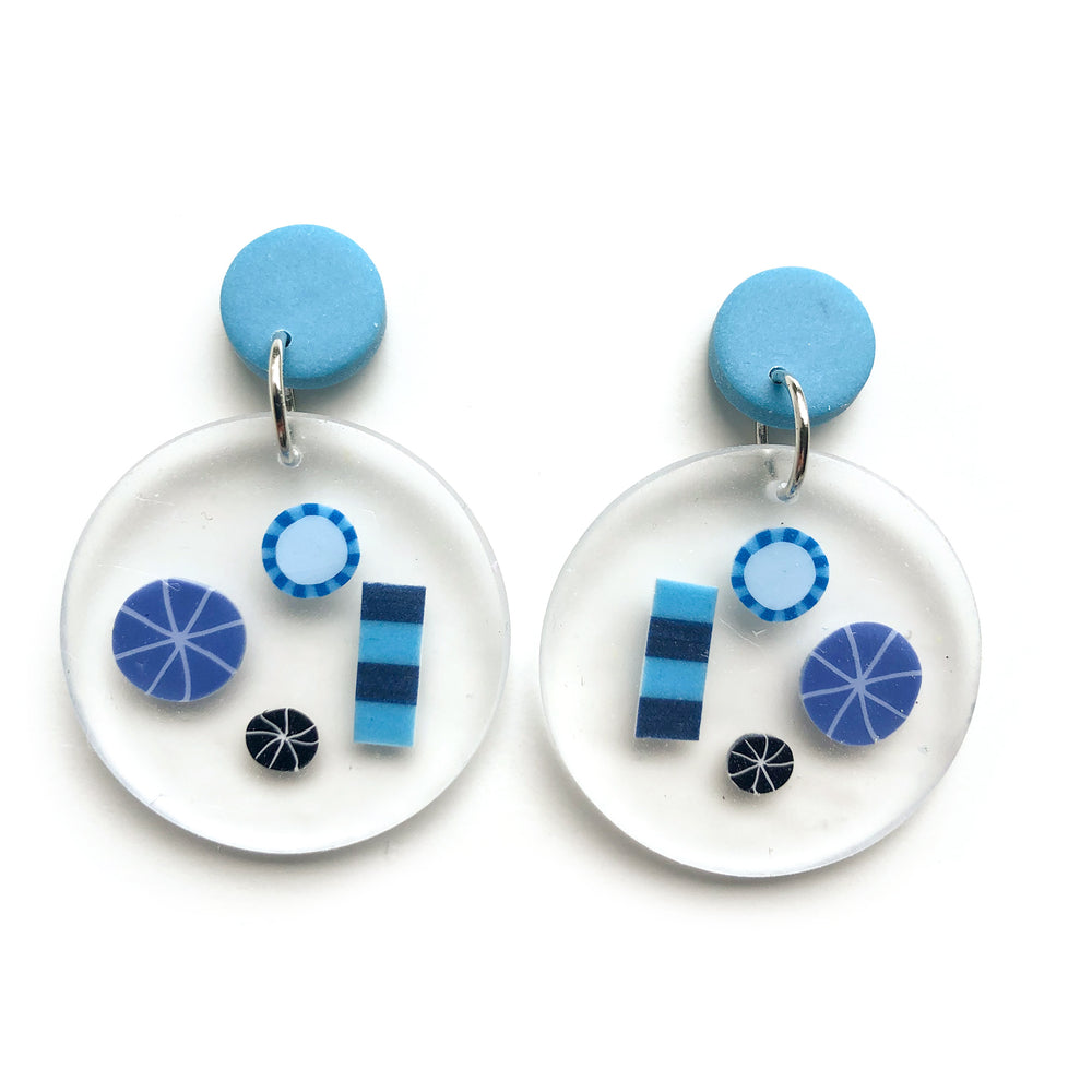 Preserved Rock Candy MATTE Circle Earrings