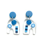 Preserved Rock Candy GLOSS Handcut Earrings