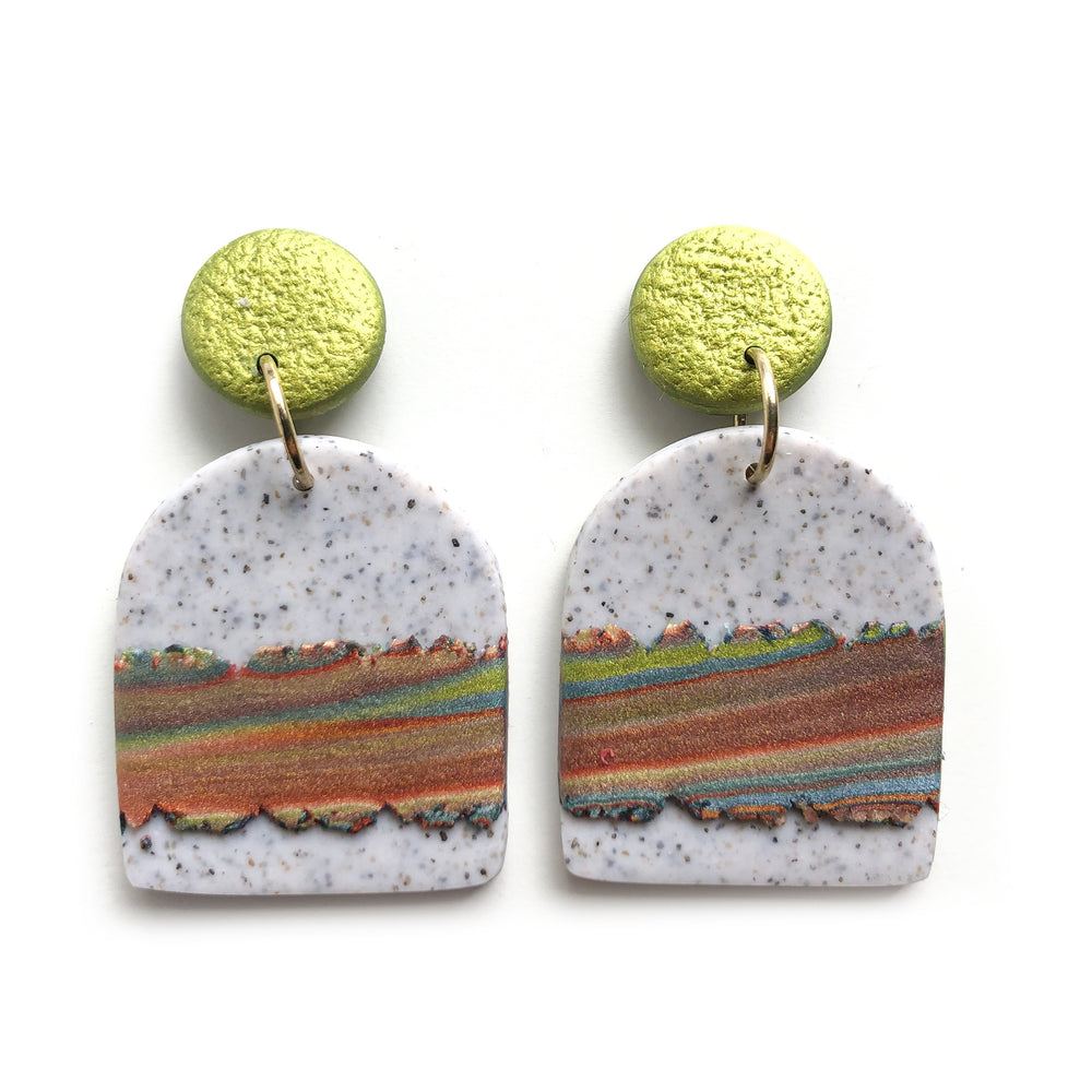 Three Generations Large Arch Drop Earrings