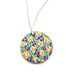 Purple Yellow Green Circle Pendant