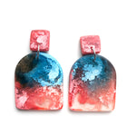 Ocean Lava Efflorescence MATTE Large Arch Drop Earrings