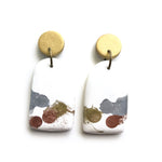 Painted Alloys White GLOSS Organic Arch Drop Earrings