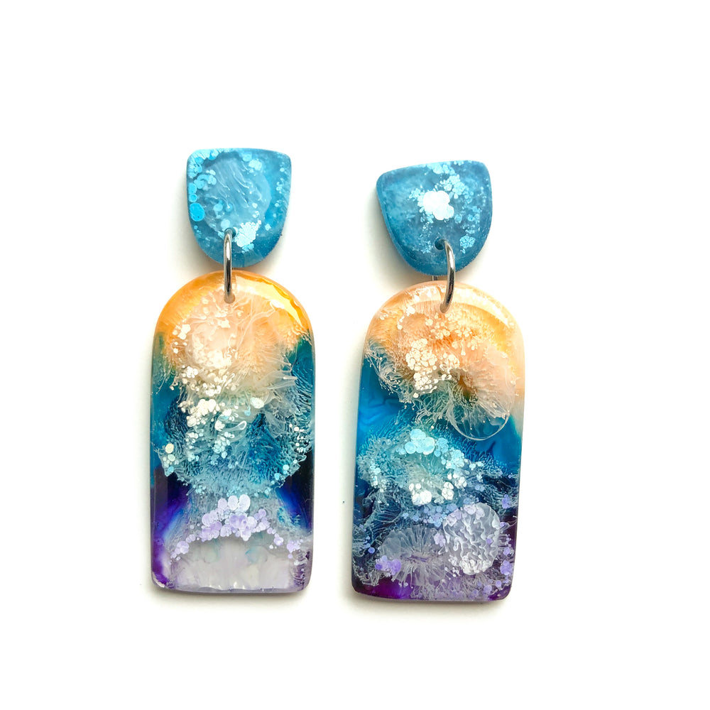 Ocean Tides GLOSS Large Narrow Arch Earrings