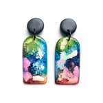 Rainbow Ink GLOSS Large Arch Drop Earrings