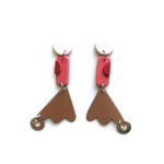 Rarehare Collab Red Drop Earrings