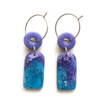Violet Efflorescence Multi Drop Hoop Earrings