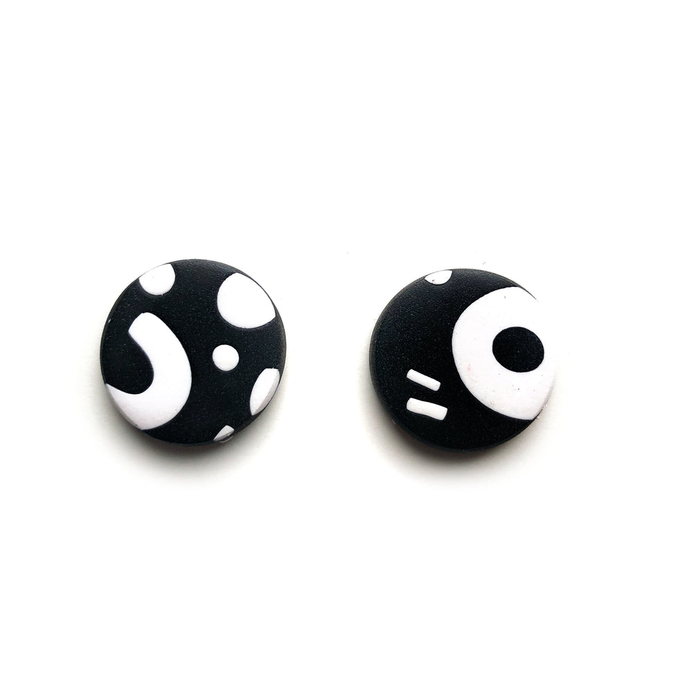 Signature Monochrome Mega Circle Stud Earrings
