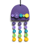 Rock Candy Purple Teal Yellow Wall Hanging