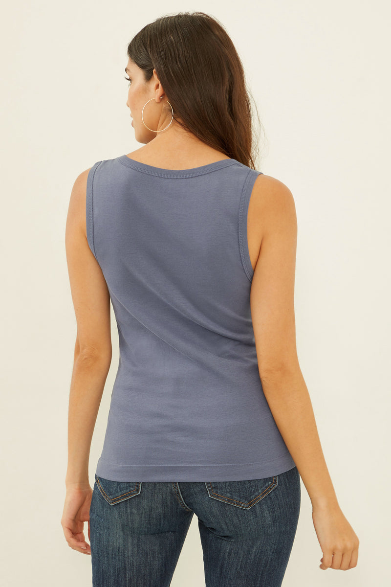 Essential Heritage Knit Rocker Tank