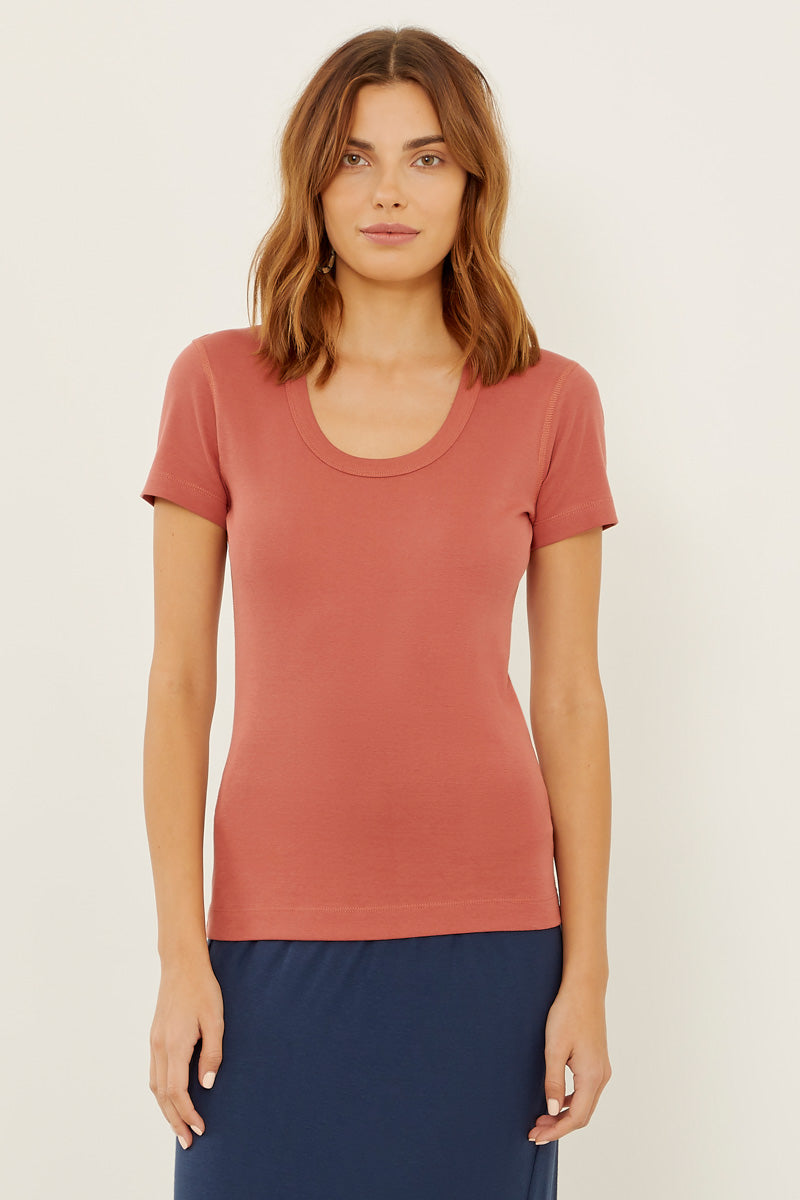 Essential Heritage Knit Scoop Neck Tee